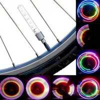 2 PCS 5 LED 8 Flashing Bicycle Valve Light Bike Wheel Light
